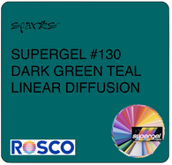 SUPERGEL #130 DARK GREEN TEAL LINEAR DIFFUSION