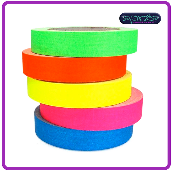 FLUORESCENT MATT GAFFA TAPE 25mm X 25M