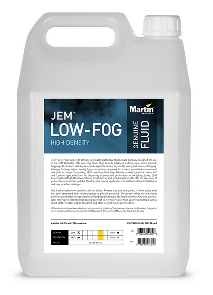 JEM Low-Fog Fluid - High Density (Formerly C3 Fluid) for Jem Glaciator