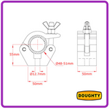 T57000: Standard Doughty Coupler Polished