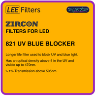 LEE ZIRCON 821 UV BLUE BLOCKER - L821