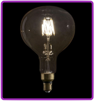 LED Filament Bulb R160 6W, dimmable - extra large