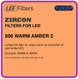 LEE ZIRCON 806 WARM AMBER 2 - L806