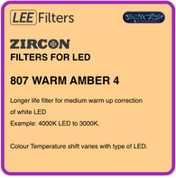 LEE ZIRCON 807 WARM AMBER 4 - L807