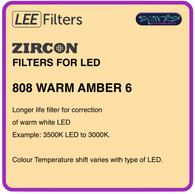 LEE ZIRCON 808 WARM AMBER 6 - L808