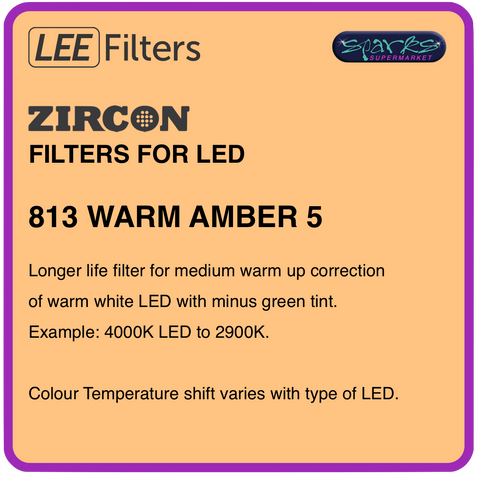 LEE ZIRCON 813 WARM AMBER 5 - L813