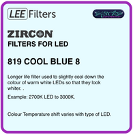 LEE ZIRCON 819 COOL BLUE 8 - L819