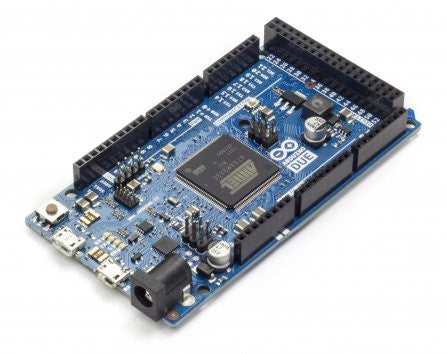 Arduino DUE The Arduino Due is a microcontroller board based on the Atmel SAM3X8E ARM Cortex-M3 CPU