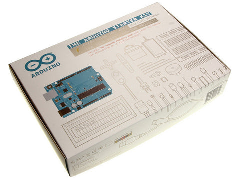 Arduino Starter Kit Packaging This kit walks you through the basics of Arduino and electronics in a hands-on way.