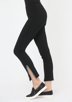 LISETTE L ZIPPER ANKLE PANT 176648 - BLACK