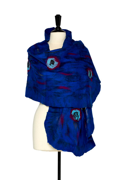 Felted shawls: TD English Rose~Midnight S100-1