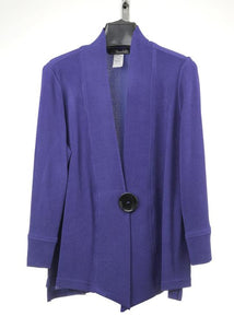 MOONLIGHT BLUE ONE BUTTON JACKET 2006W