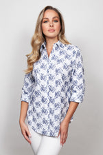 SNO SKINS EMBROID WOVEN FLORAL SHIRT 70509-20