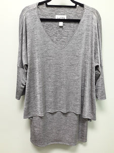 JOSEPH RIBKOFF SILVER LAYER TUNIC TOP 163468 - FINAL SALE