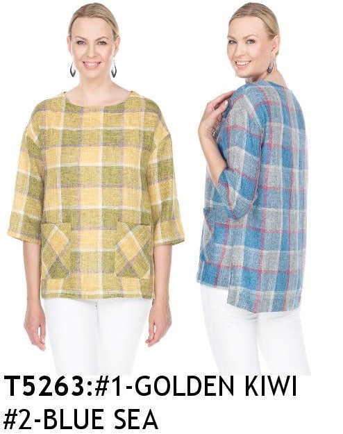 TERRA-SJ BUTTON DOWN TOP T5263
