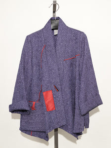 MOONLIGHT PURPLE ONE BUTTON DOWN JACKET 2046
