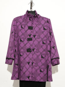 MOONLIGHT PURPLE WIRED COLLAR BUTTON DOWN JACKET 2330