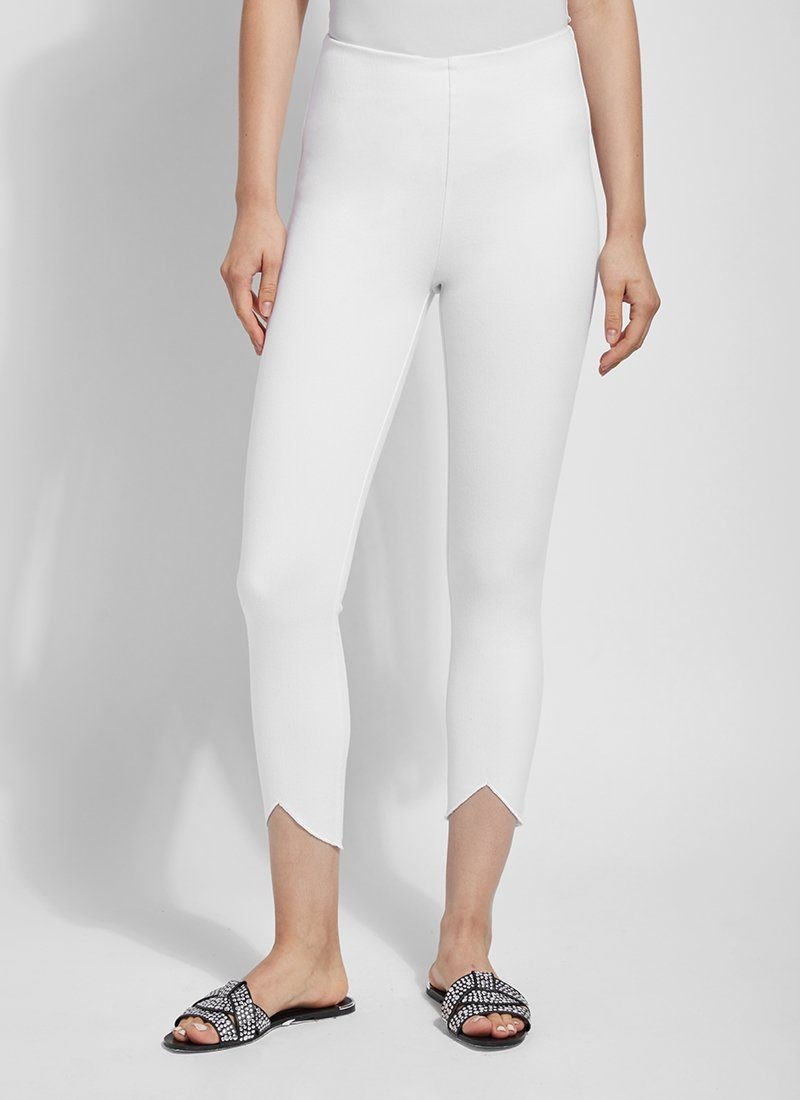 LYSSE SCALLOP EDGE DENIM LEGGING 12-2478-M9 - WHITE