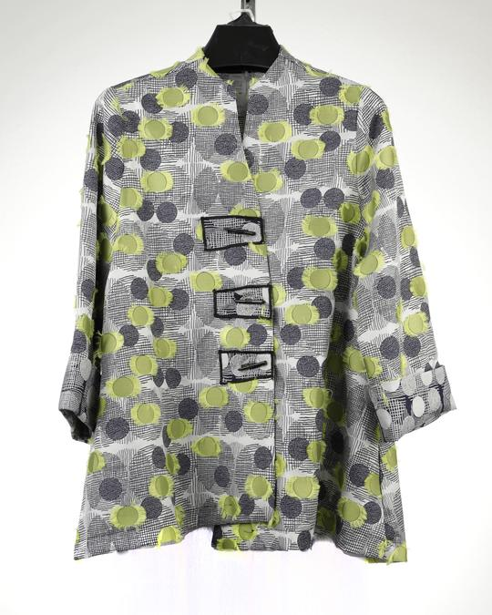 MOONLIGHT GREY GREEN DOT SWING JACKET 2607