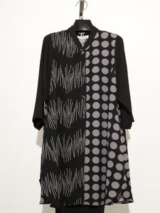 MOONLIGHT BLACK POLKA DOTS TUNIC JACKET 2862