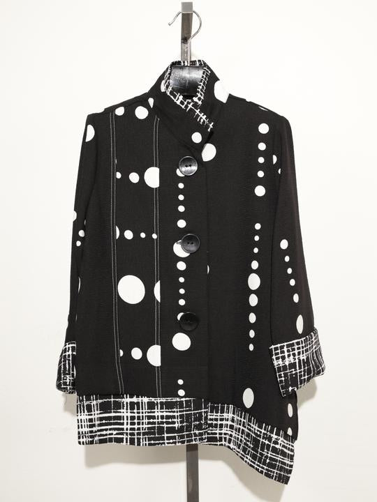 MOONLIGHT BLACK WHITE POLKA DOT JACKET 2866