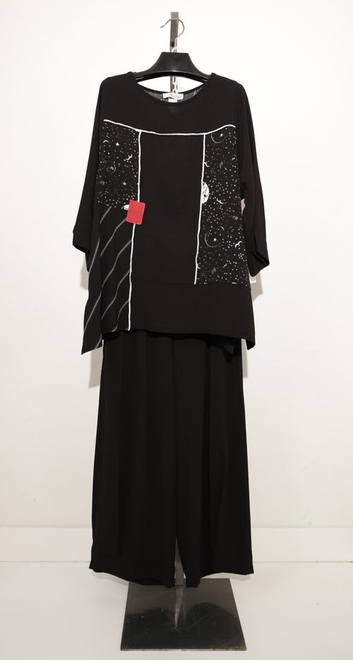 MOONLIGHT BLACK TUNIC TOP 2890