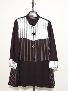 MOONLIGHT BLACK WHITE STRIPED JACKET 2895
