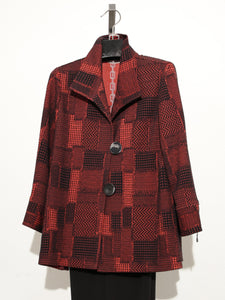MOONLIGHT BLACK RED BUTTON JACKET 2931