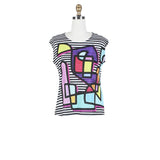Damee Picasso Art Print Twin Set in Multicolor - 31368-MLT