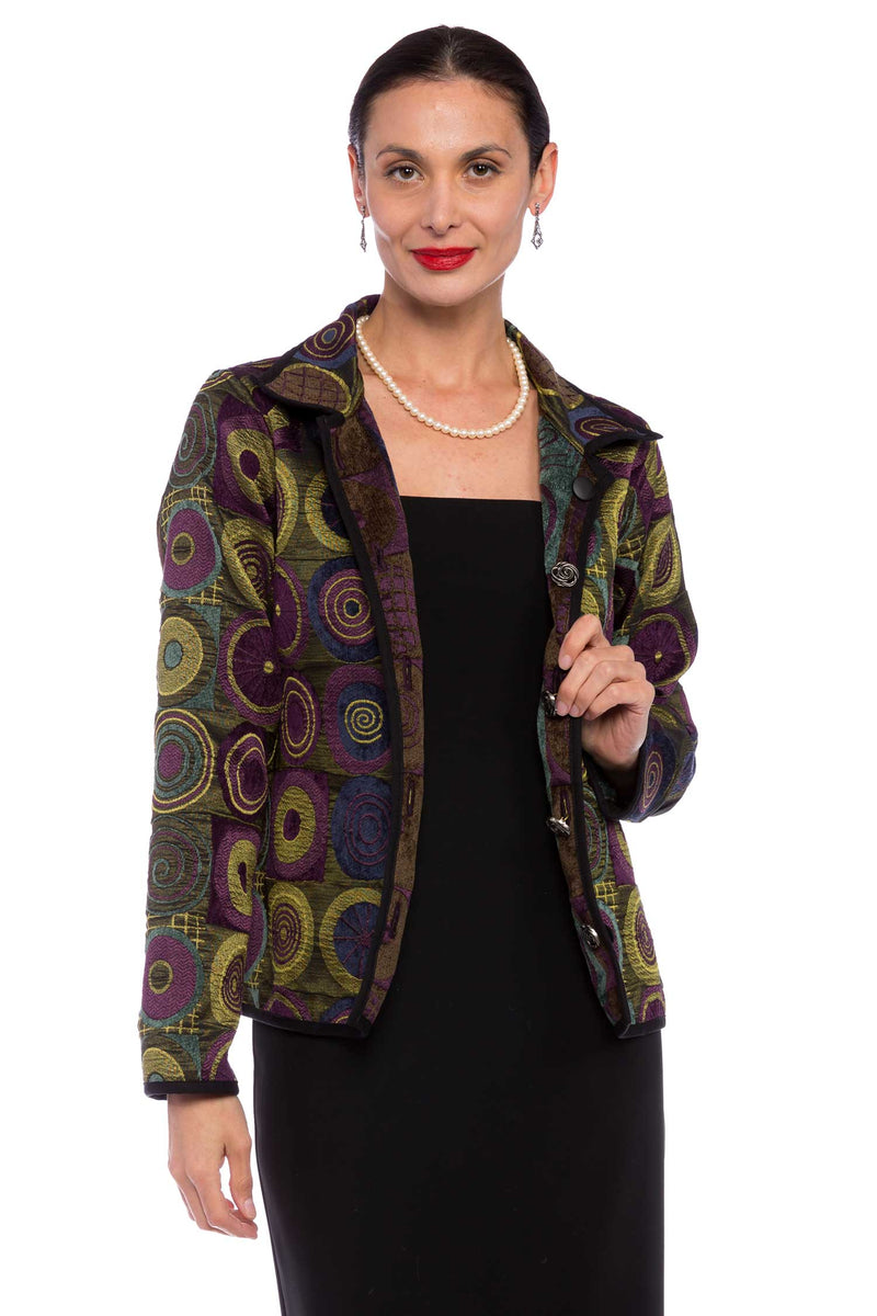 Winding River Reversible Artisan jacket: Royal Purple Signature Classic Jacket