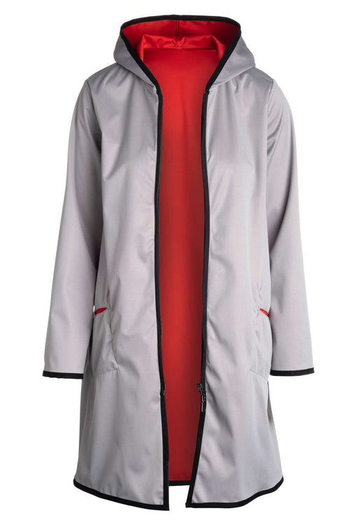 Winding River Reversible Hooded Raincoat: Cherry Red SKU: 377-1075