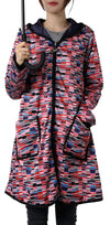 Winding River Reversible Hooded Raincoat: Geometrics/Plum SKU: 379-815