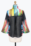 DAMEE NYC HALF & HALF COLORFUL BRUSH STROKE JACKET 4605-BLK