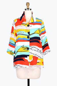 DAMEE NYC VIBRANT DIARY SHORT JACKET 4636-MNT
