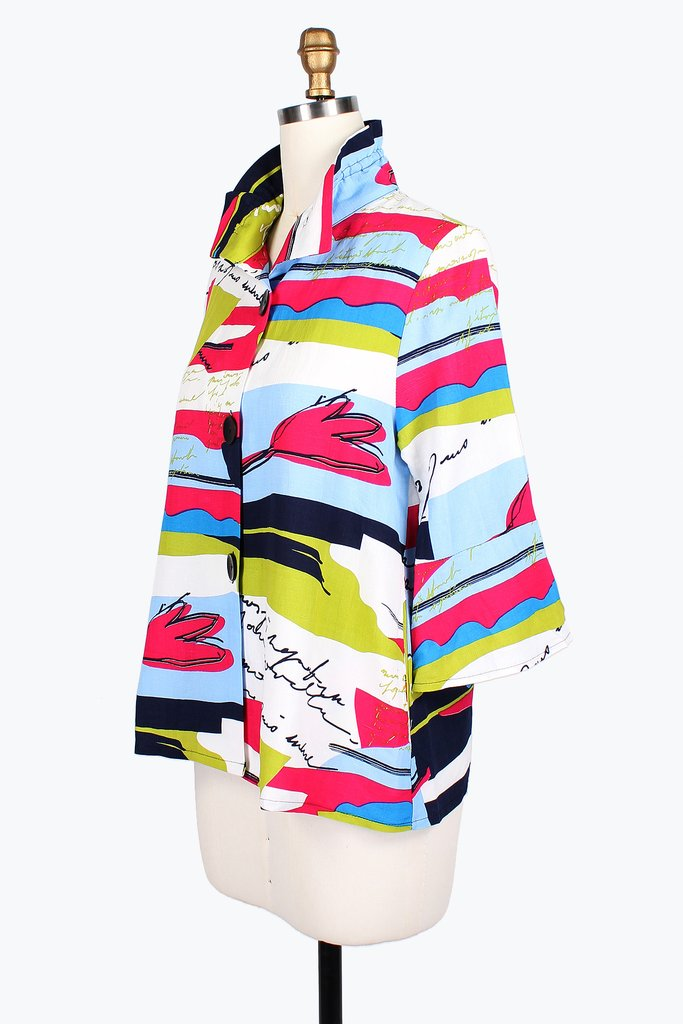 DAMEE NYC VIBRANT DIARY SHORT JACKET 4636-SKY