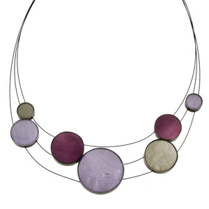 Resin & Shell Jewelry Necklace 4961-43