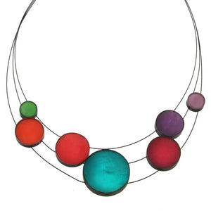 Resin & Shell Jewelry Necklace 4961-48