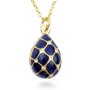 Museum Collection: Imperial Blue Argyle Egg Earrings 5281E