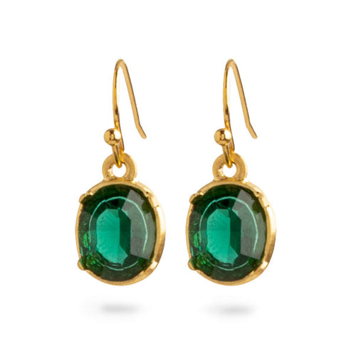 Museum Collection: Tiffany 'Emerald' Nouveau Ear Rings 5657E