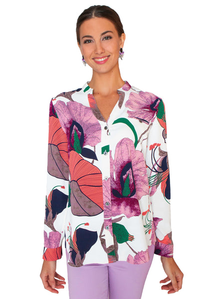 LIOR FLORAL PRINT TUNIC SHIRT 615-21