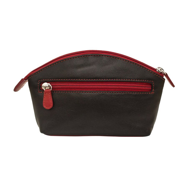ILI NEW YORK BLACK RED COSMETIC POUCH WITH HOT LIPS ZIP TOP 6481