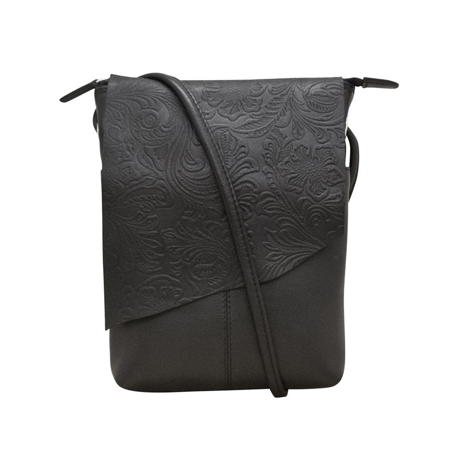 ILI NEW YORK BLACK MINI SAC EMBOSSING CROSSBODY BAG 6547