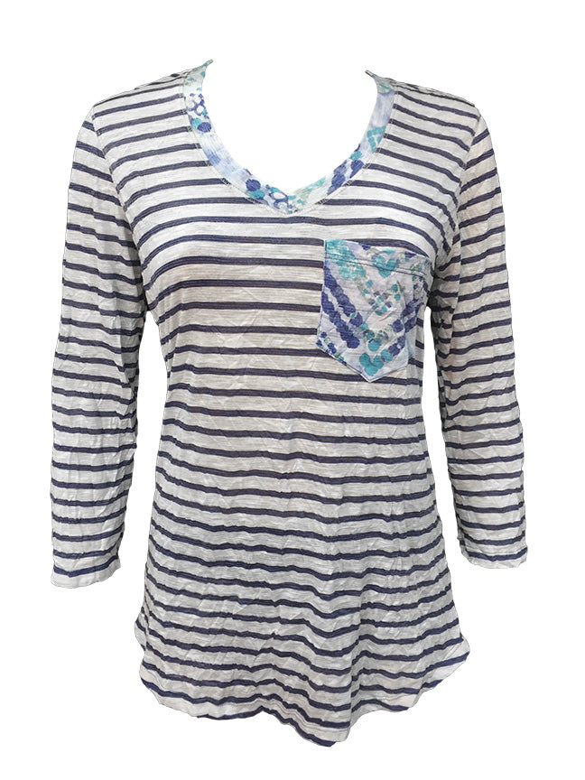David Cline Top 6578-STRIPE