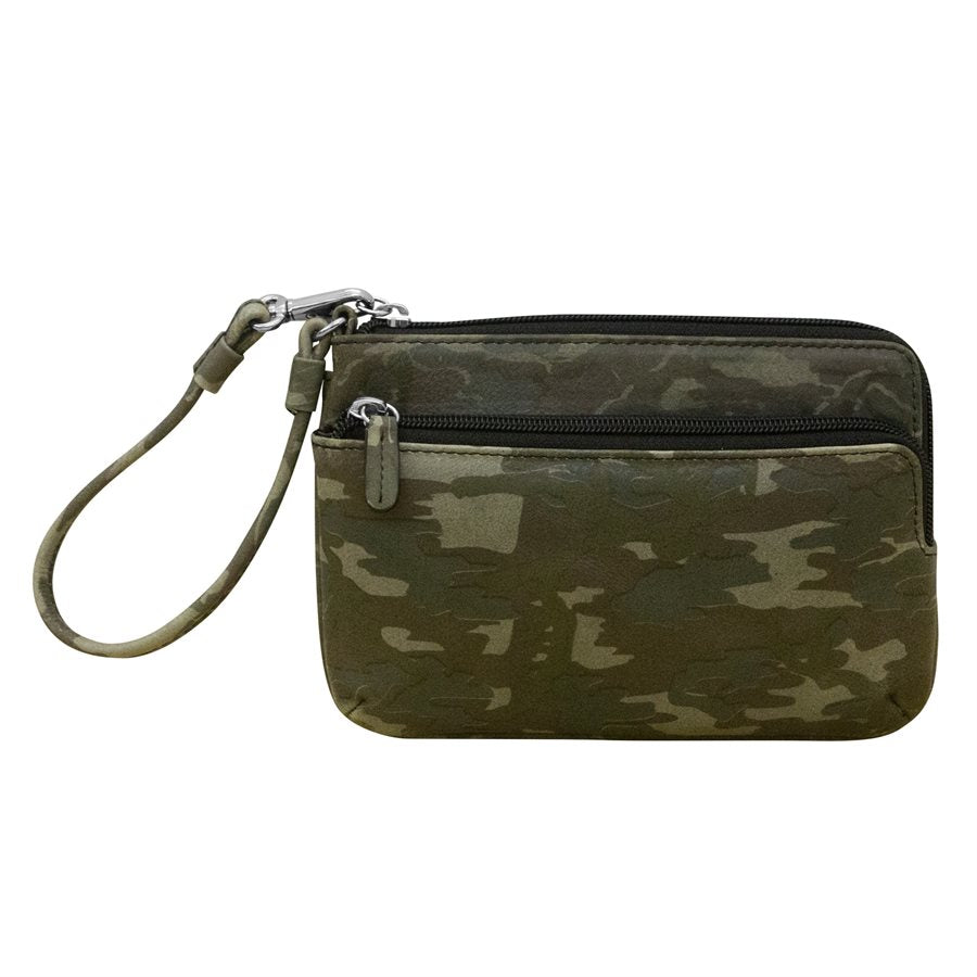 ILI NEW YORK CAMO GREEN WRISLET WITH TOUCHSCREEN POCKET 6834