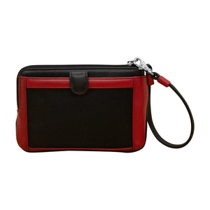 ILI NEW YORK BLACK RED WRISLET WITH TOUCHSCREEN POCKET 6834
