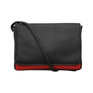 ILI NY BLACK RED CLUTCH CROSSBODY WITH TOUCHSCREEN POCKET 6851