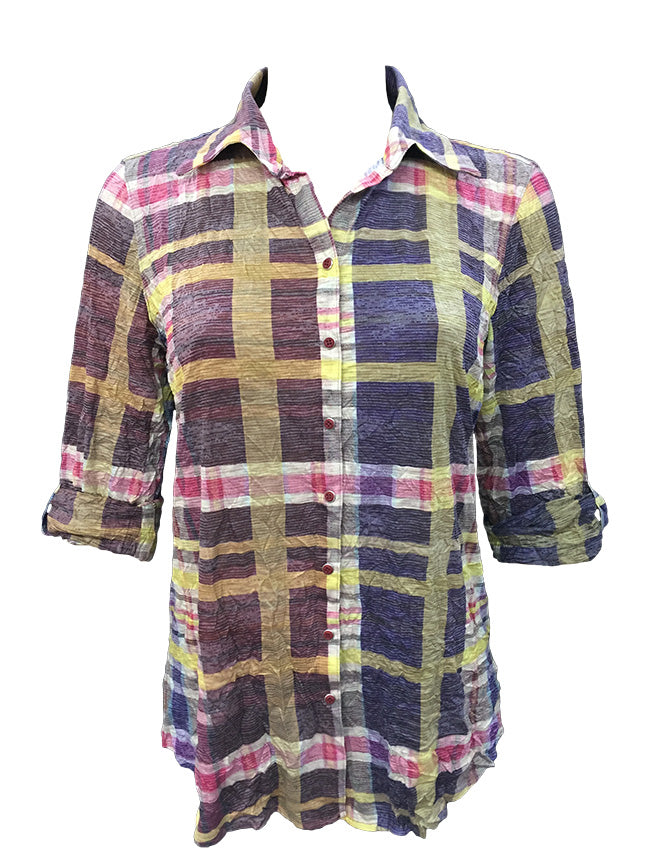 David Cline Top 6900-Plaid