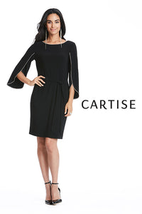 CARTISE BLACK RHINESTONES DRESS 720121- FINAL SALE