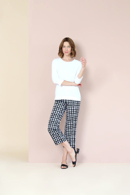 Lisette Kahlo Check Knit Crop Trouser Style 785600