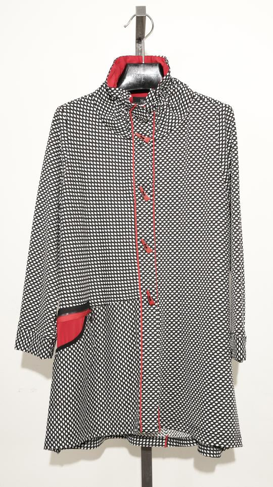 MOONLIGHT BLACK WHITE RED TUNIC JACKET 9193